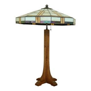 Stickley Arts & Crafts Mission Oak Table Lamp For Sale