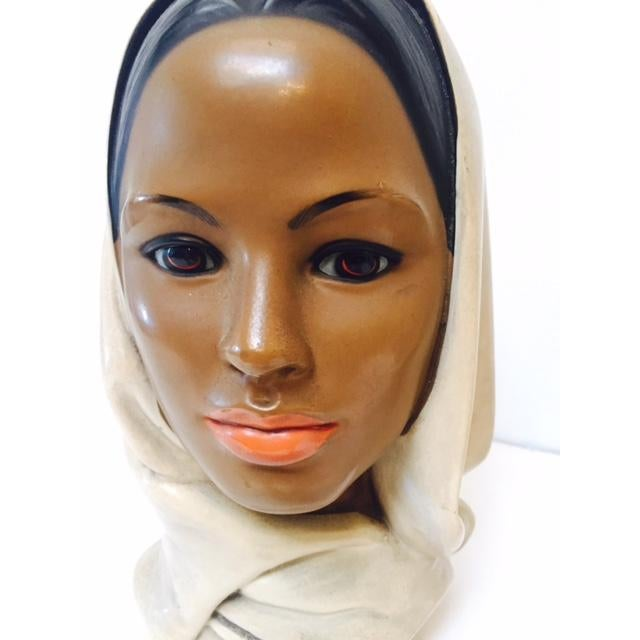 Marwal Arab Female Busts - A Pair - Image 5 of 5
