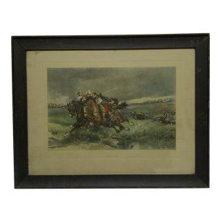 """1888 Vintage """"Prisoner"""" Framed Print by Aime Moror For Sale"""