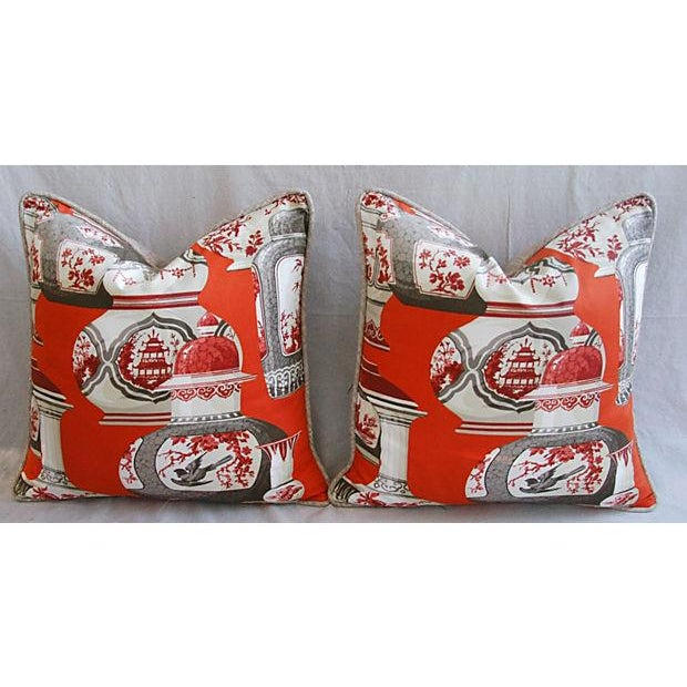Custom Braemore Chinoiserie Vase Pillows - Pair - Image 8 of 8