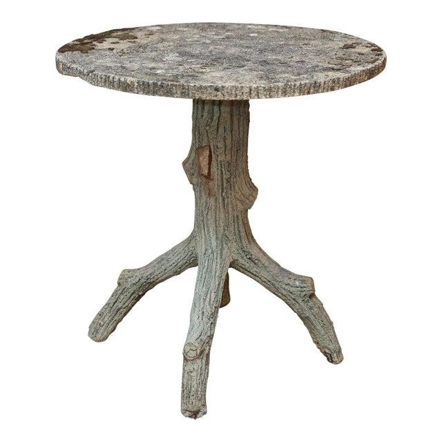 Distinguished Vintage Faux Bois Side Table | DECASO
