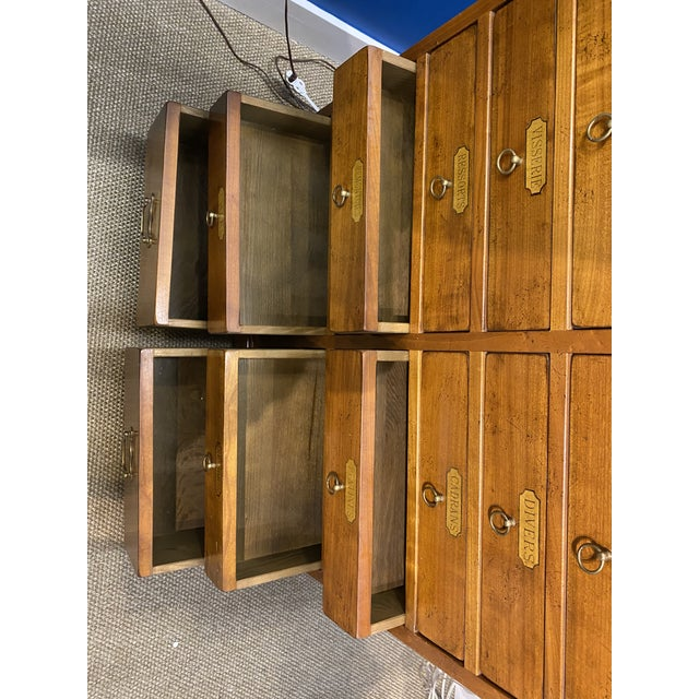 French Oak Apothecary Cabinet For Sale - Image 11 of 13