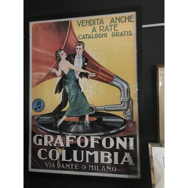 Vintage Grafofoni Columbia Poster - Framed For Sale - Image 9 of 9