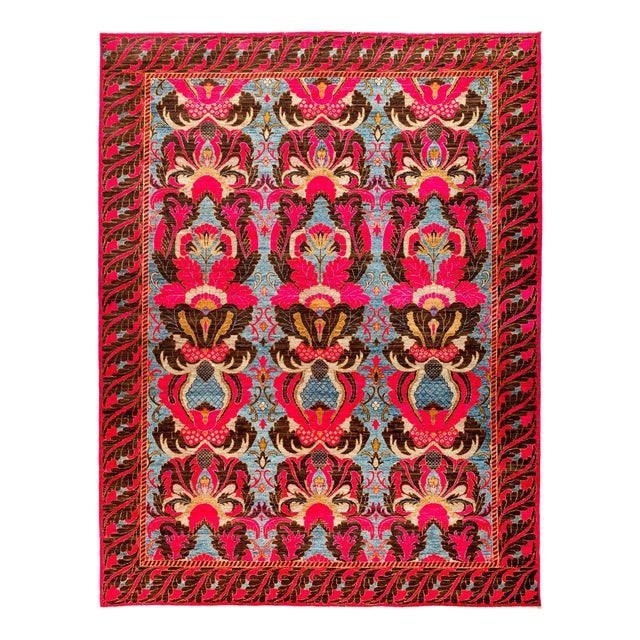 """New Hand Knotted Area Rug - 9'3"""" x 11'10"""" - Image 1 of 3"""