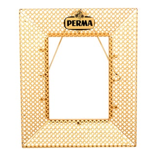 1950s Metal Perforated Perma Picture Photo Frame For Sale