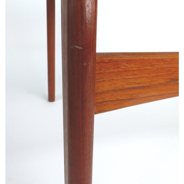 Scandinavian Modern Teak Armchairs - a Pair For Sale - Image 4 of 13