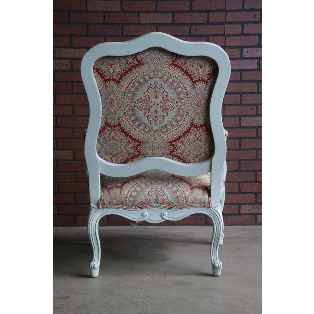 Fabric Modern Ethan Allen French Provincial Chantel Accent Chair For Sale - Image 7 of 10