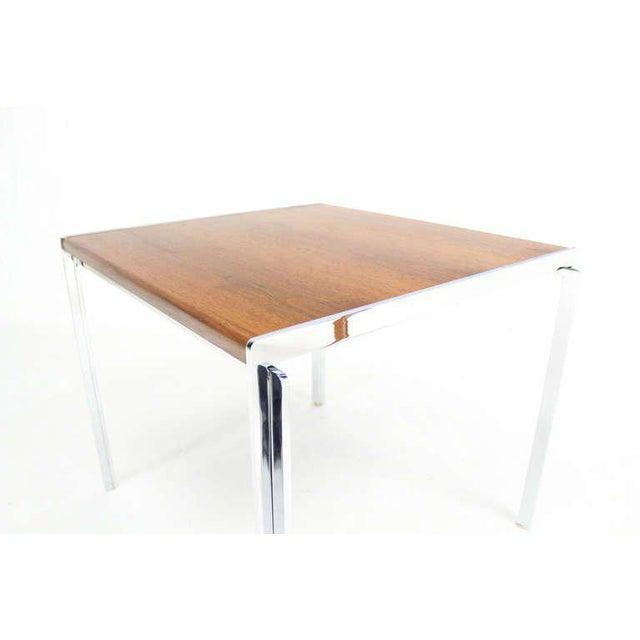 Walnut And Chrome Coffee Table: Exceptional Mid-Century Modern Stow Davis Walnut & Chrome