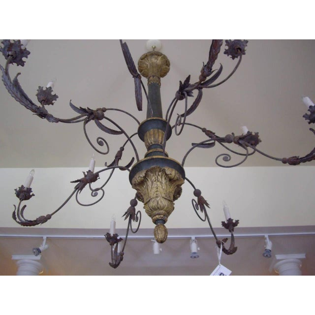 Giltwood Very Large Late 18th/19th Century Italian Chandelier For Sale - Image 7 of 11