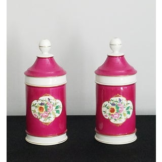 Vintage Portuguese Porcelain Apothecary Jars –in Fuchsia Preview
