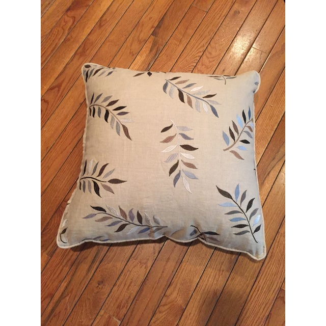 2010s Autumn Leaves Print Pillows - A Pair For Sale - Image 5 of 7