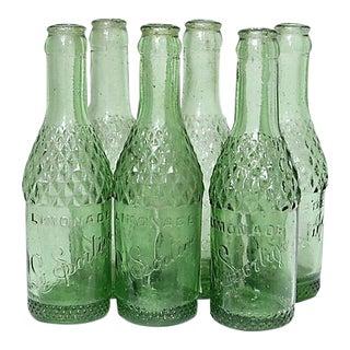 Midcentury French Lemonade Bottles - Set of 6 For Sale