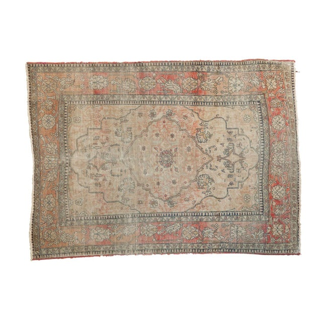 "Antique Kerman Square Rug - 2'11"" X 4' For Sale - Image 13 of 13"
