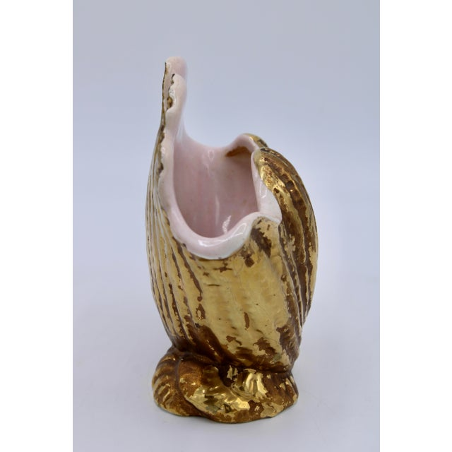 Mid-20th Century Italian Ceramic Shell Cachepot Planter For Sale - Image 4 of 13
