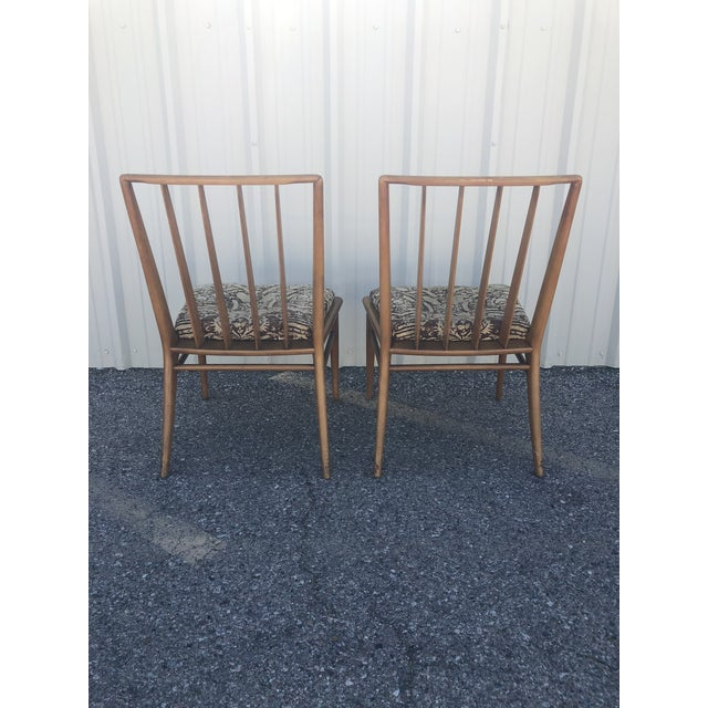Brown Saltman Mid Century Modern Brown Saltman Dining Chairs - a Pair For Sale - Image 4 of 12