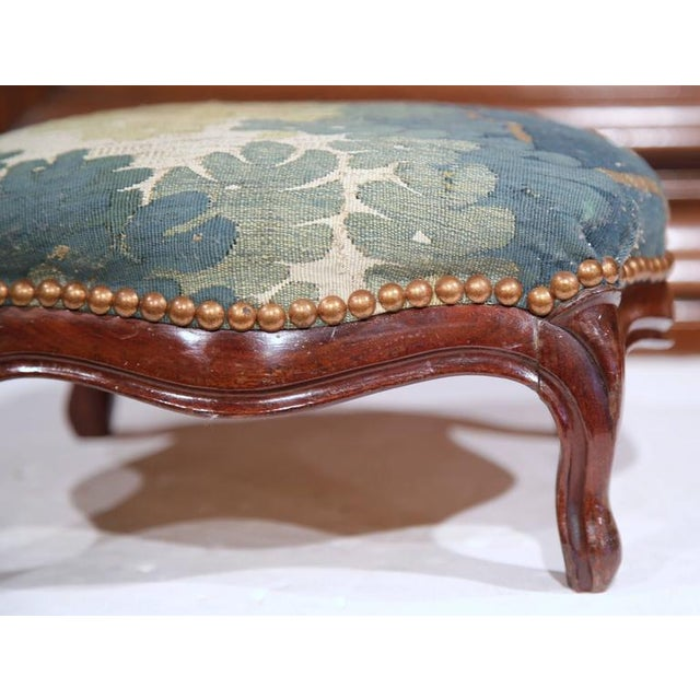 Mid-19th Century French Louis XV Carved Walnut Footstool For Sale - Image 5 of 7