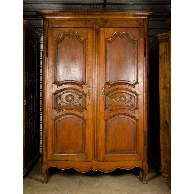 19th Century Louis XV Antique French Carved Armoire For Sale - Image 13 of 13