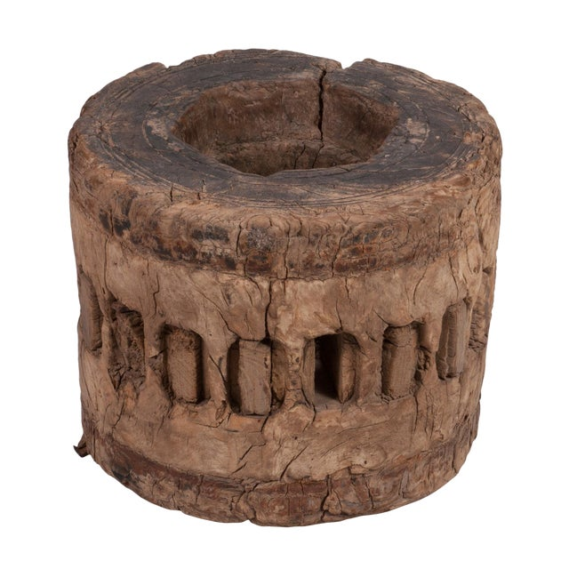Rustic Moroccan Wooden Cog For Sale
