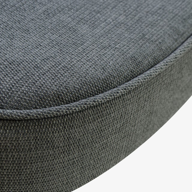 Chrome Saarinen Executive Arm Chair in Textured Charcoal Weave, Swivel Base For Sale - Image 7 of 8