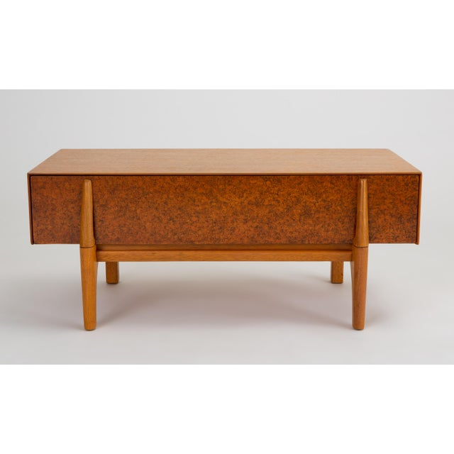 Danish Modern Single Bench With Storage by John Keal for Brown Saltman For Sale - Image 3 of 13