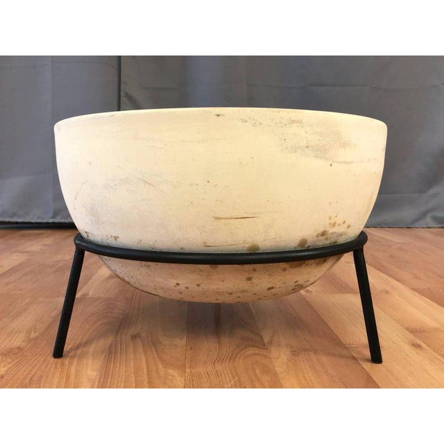 1950s Vintage John Follis for Architectural Pottery Fx Planter With Ms-Fx Stand For Sale - Image 5 of 12