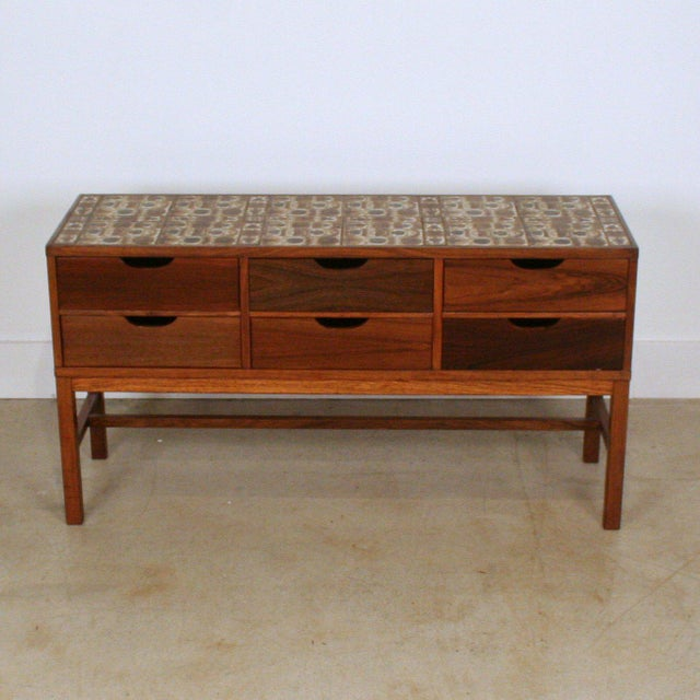 Danish Modern Severin Hansen Vintage Danish Rosewood and Royal Cph Tile Chest of Drawers For Sale - Image 3 of 6