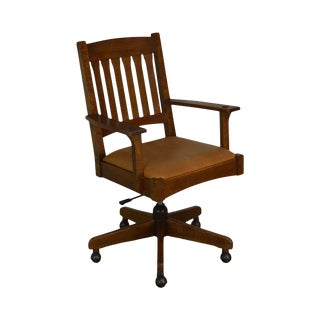 Stickley Mission Collection Oak Desk Chair For Sale