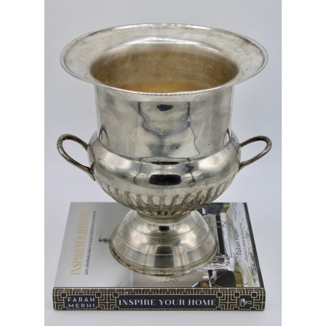 Mid 20th Century Vintage Mid Century Modern Silver Plate Champagne Ice Bucket For Sale - Image 5 of 13