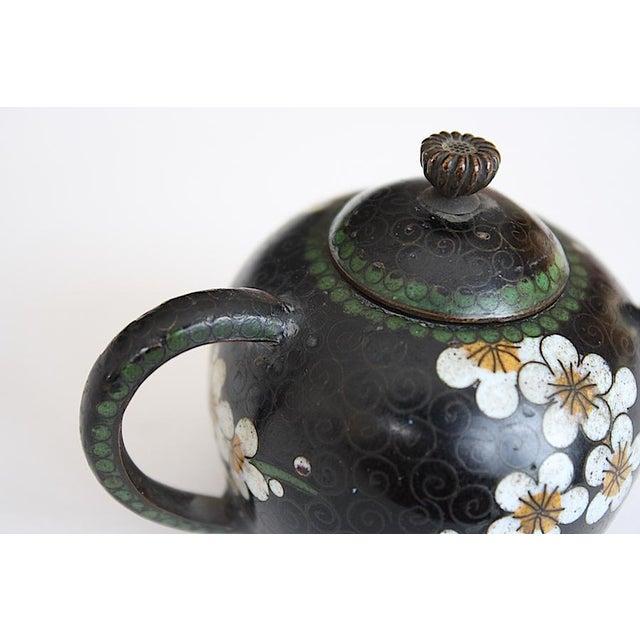 Antique Miniature Japanese Cloisonne Teapot For Sale - Image 10 of 13