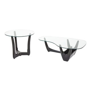 Adrian Pearsall Style Coffee Table With Planter and Side Table Set by j.b. Van Sciver Company For Sale