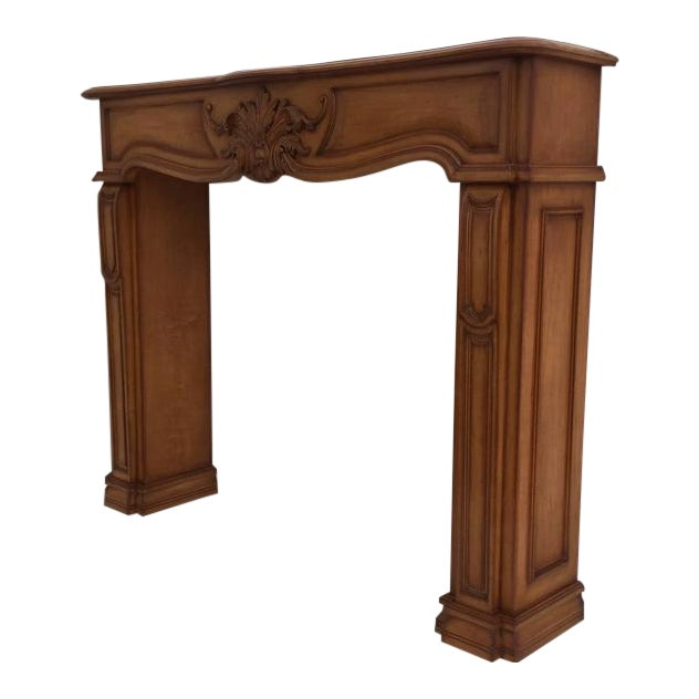 Carved Architectural Fireplace Mantel - Image 1 of 7