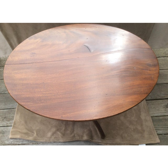American Mahogany Tilt Top Table - Image 3 of 10