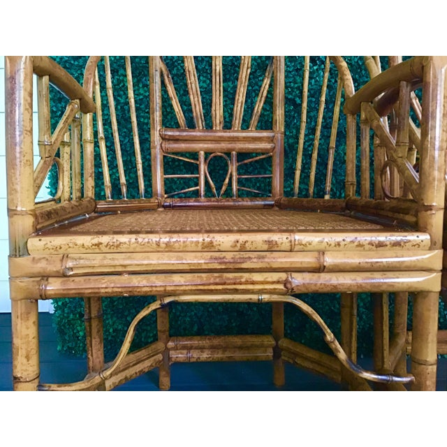 1980s Vintage Brighton Bamboo ChairsA Pair For Sale - Image 10 of 13