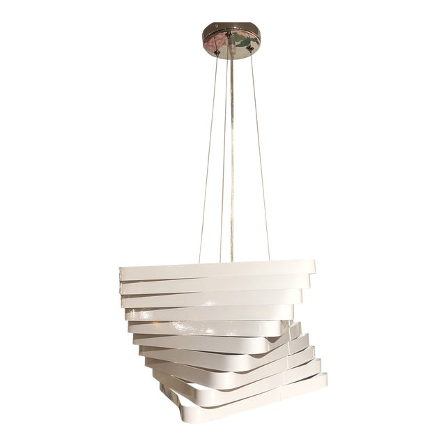 Modern Style 3-Light Geometric Metal Pendant For Sale