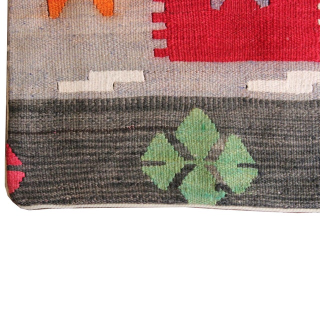 Vintage 1960s Turkish Kilim Pillow Cover - Image 4 of 5