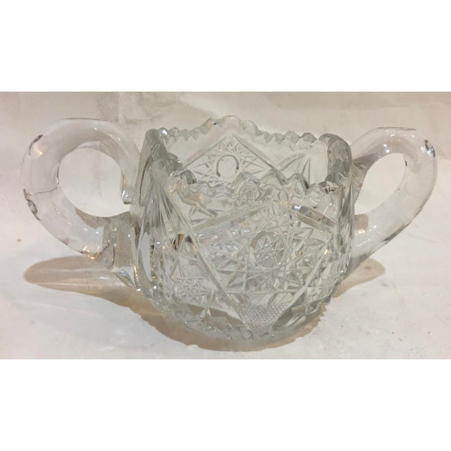Mid-Century Cut Glass Sugar Bowl For Sale - Image 11 of 11