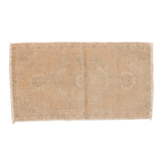 "Vintage Distressed Oushak Rug Mat - 1'6"" X 2'8"" For Sale"