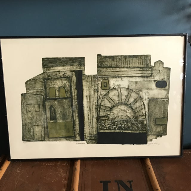 John Ross Architectural Collagraph - Image 3 of 10
