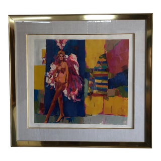 Very Large Vintage Original Lithograph Numbered and Signed by the Artist. For Sale