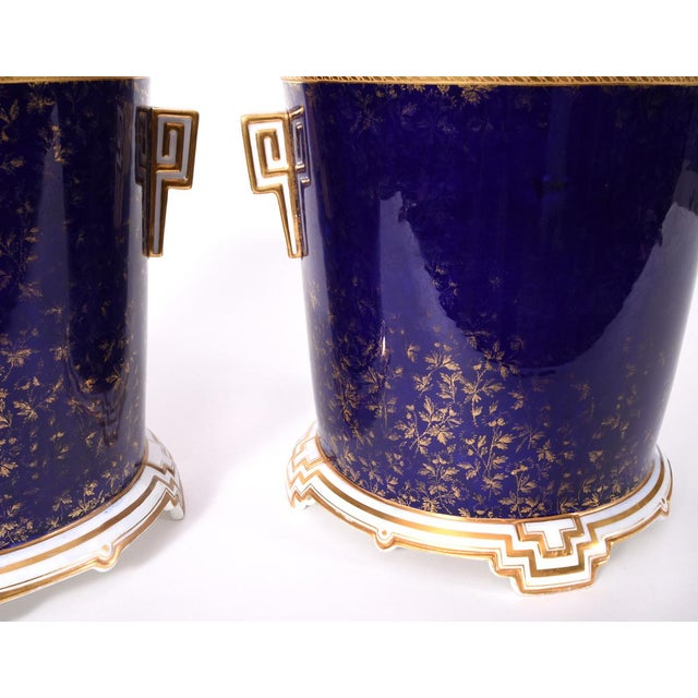 Wedgwood Late 19th Century Matching English Wedgwood Wine Coolers - a Pair For Sale - Image 4 of 11