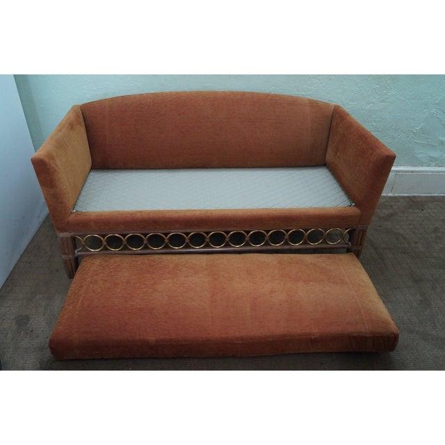 McGuire Laura Kirar Rattan Base Sofas - Pair For Sale - Image 5 of 10