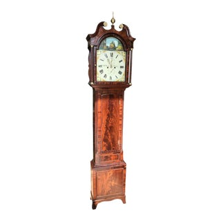 Early 19th Century George III Rocking Ship Automaton Longcase Clock For Sale