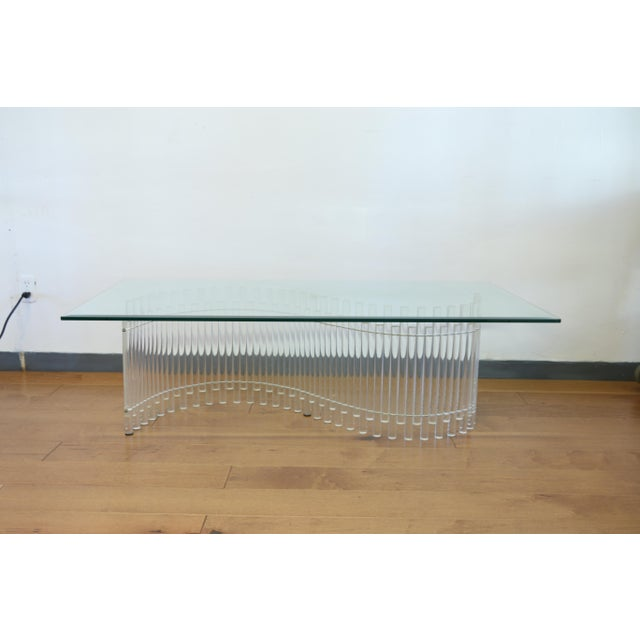 Contemporary Vintage Lucite Coffee Table For Sale - Image 10 of 10