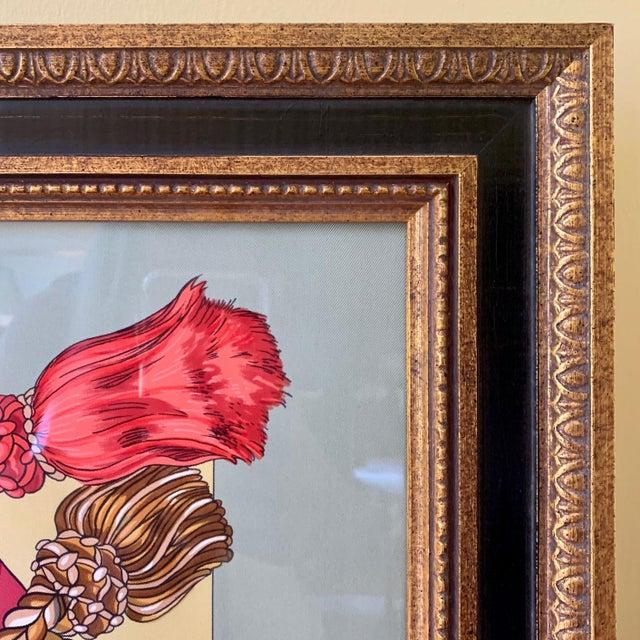 Hermès Professionally Framed Hermes 100% Silk Scarf For Sale - Image 4 of 6