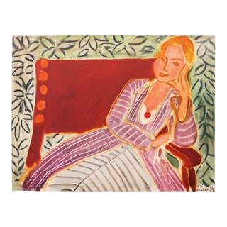 "1946 Henri Matisse Original ""Girl in a Persian Dress"" Parisian Period Lithograph For Sale"