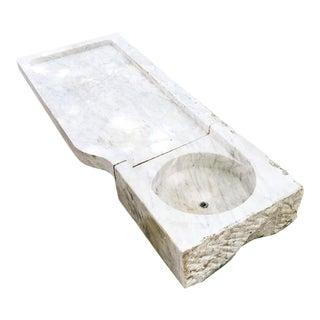 19th Century Marble Fountain Basin / Garden Sink For Sale