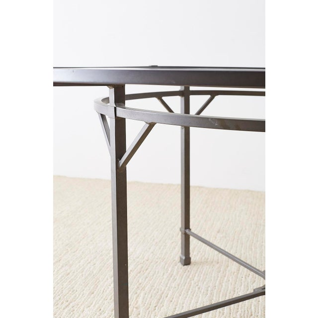 Metal Richard Frinier for Brown Jordan Garden Patio Table For Sale - Image 7 of 13