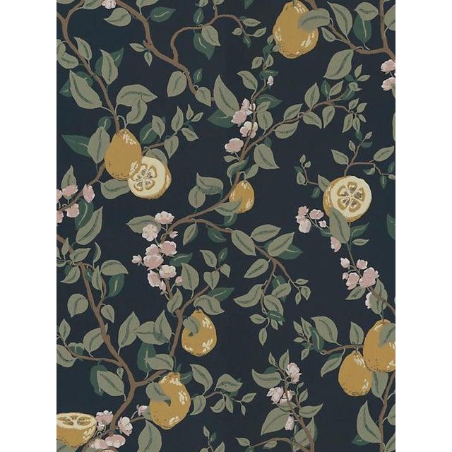 Traditional Scalamandre Kvitten, Dark Blue Wallpaper For Sale - Image 3 of 3
