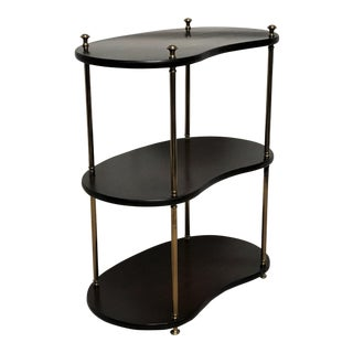 20th Century Georgian Mahogany & Brass Etagere Side Table For Sale