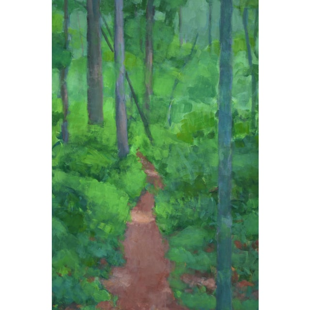 "Stephen Remick Large Painting ""At the Edge of the Woods"" by Stephen Remick For Sale - Image 4 of 13"